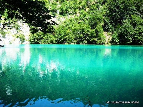 цвет воды в национальном парке Плитвицкие озера