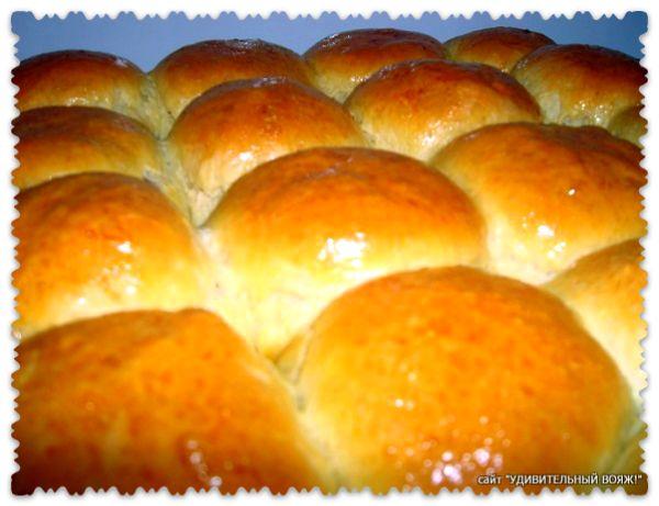 рецепт булочек на дрожжах