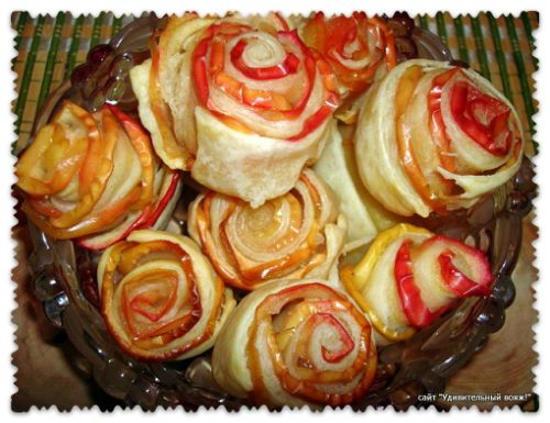 печенья из слоеного теста «Букет из роз»