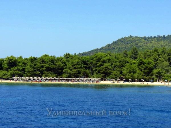 пляж острова Скиафос