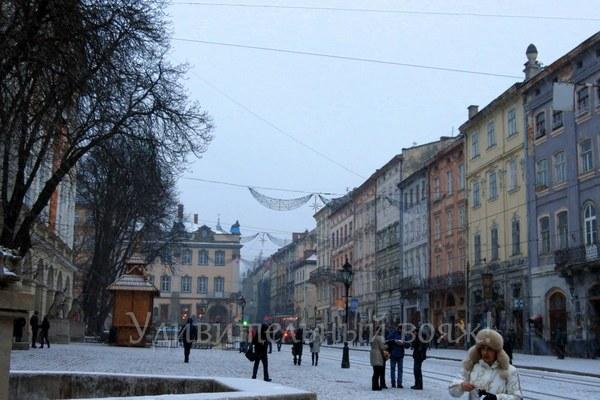 Город Львов, центральная площадь Рынок