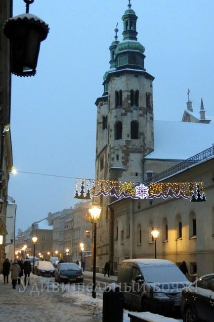 достопримечательность Кракова церковь Св.Андрея