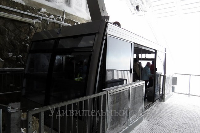 вагончик для подъема на Каспровы Верх