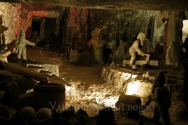 в соляных шахтах Велички