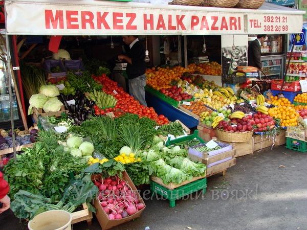 овощи и фрукты в Стамбуле