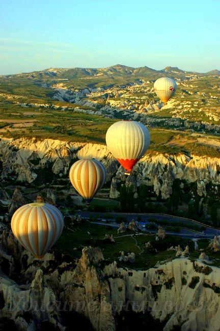 Полет на воздушном шаре, Каппадокия