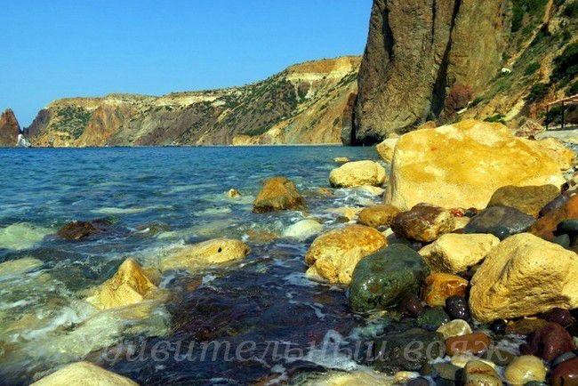 Яшмовый пляж в Крыму