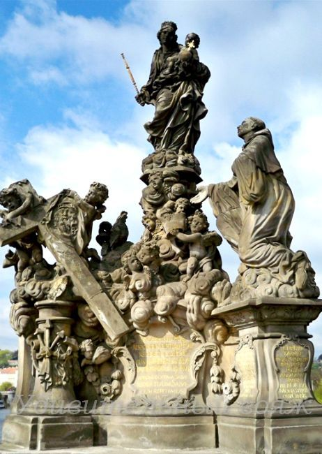 Скульптура Мадонны и Св. Бернарда