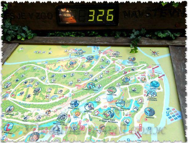 карта зоопарка в Праге