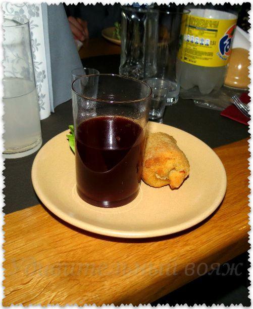борщ в стакане