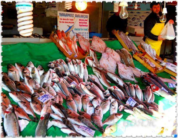 Рыбный рынок в Стамбуле