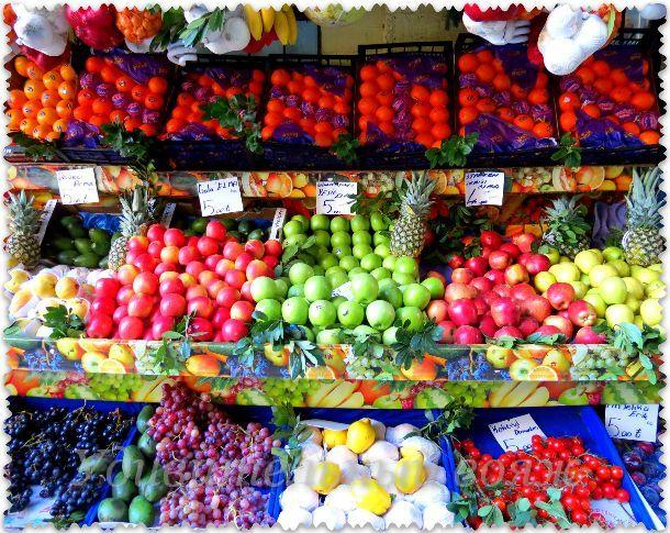 фрукты в Стамбуле в феврале