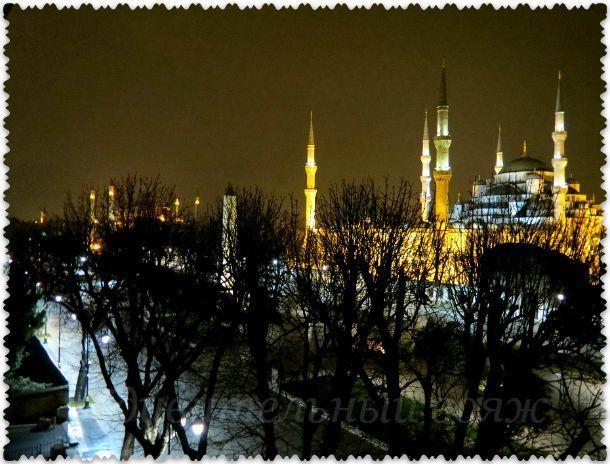 отель с видом на Голубую мечеть Стамбула