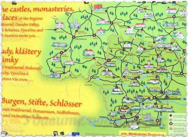 все замки Чехии на карте