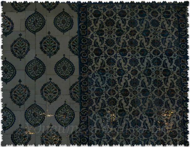 голубые изразцы в Голубой мечети