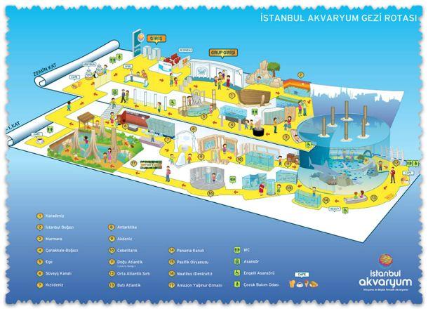 схема аквариума в Стамбуле