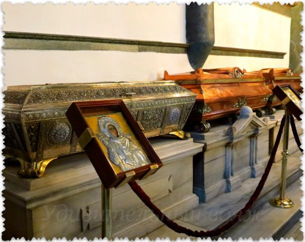 moshhi svjatyh v hrame sv. Georgija v Stambule