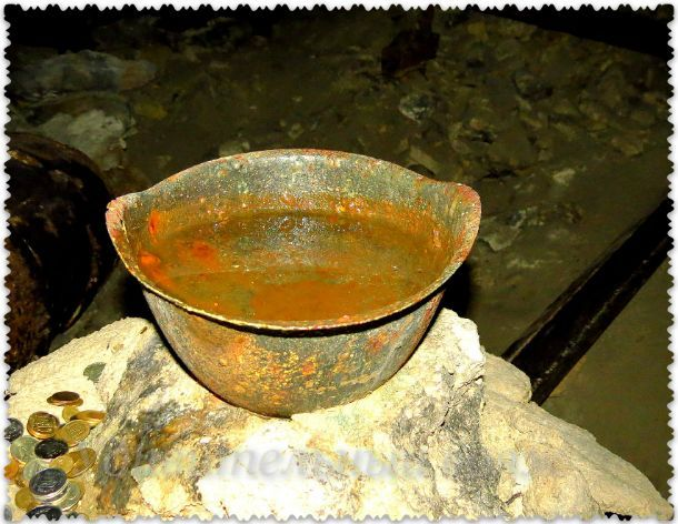 сбор воды в Аджимушкайских каменоломнях