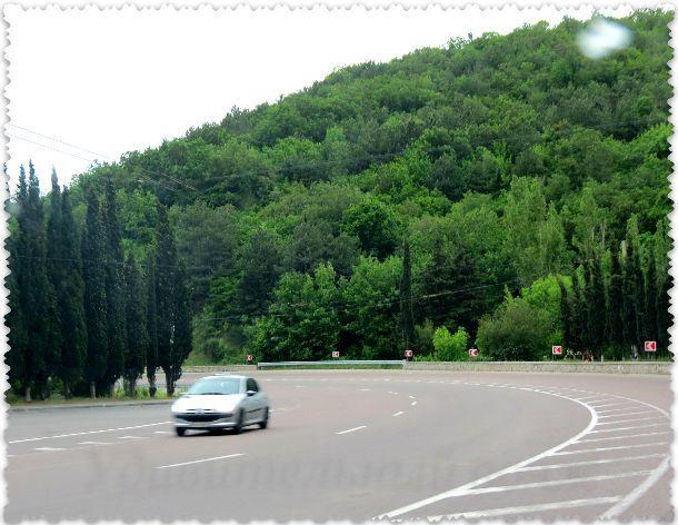 трасса Симферополь-Алушта М18