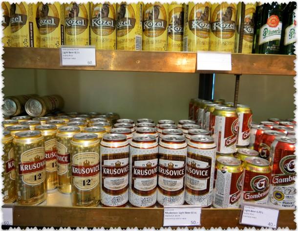 Banochnoe pivo v d'juti fri ajeroporta Pragi