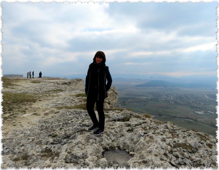na vershine Beloj skaly v Krymu