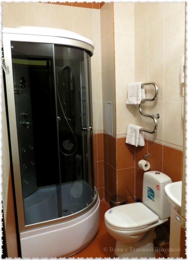 ванная комната в отеле Эсперо