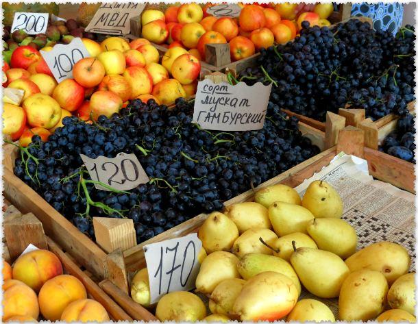 frukty v Sudake v sentjabre