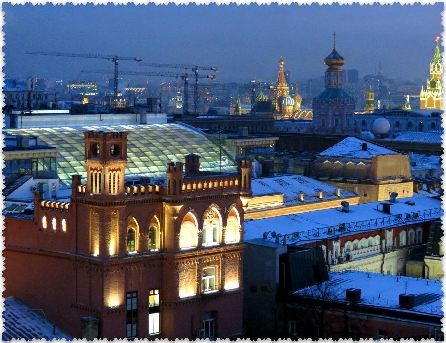 vid na Moskvu, janvar' 2016