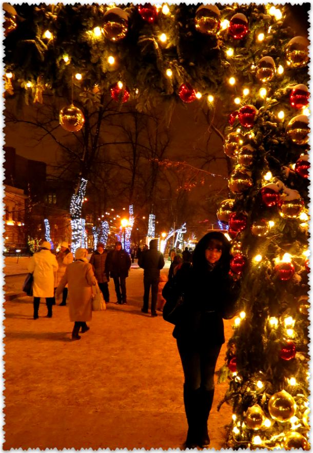 Prazdnichnaja Moskva v janvare