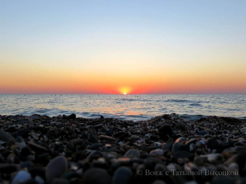 закат в Западном Крыму