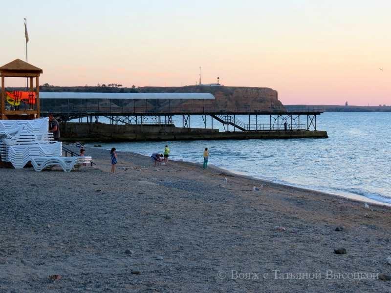 пляж в Песчаном