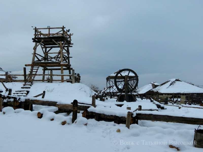 skandinavskaja derevnja vikingov zimoj