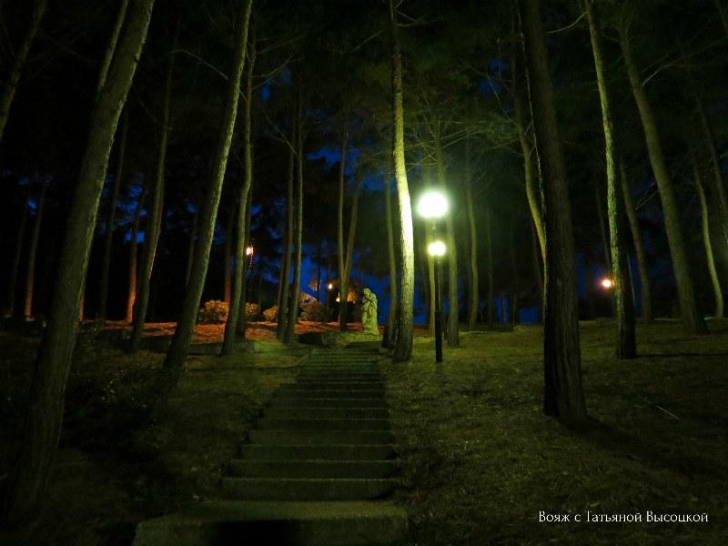 park Ajvazovskoe noch'ju